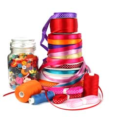 ribbons craft and haberdashery items